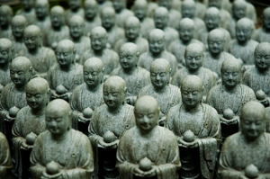 group of Jizo statues