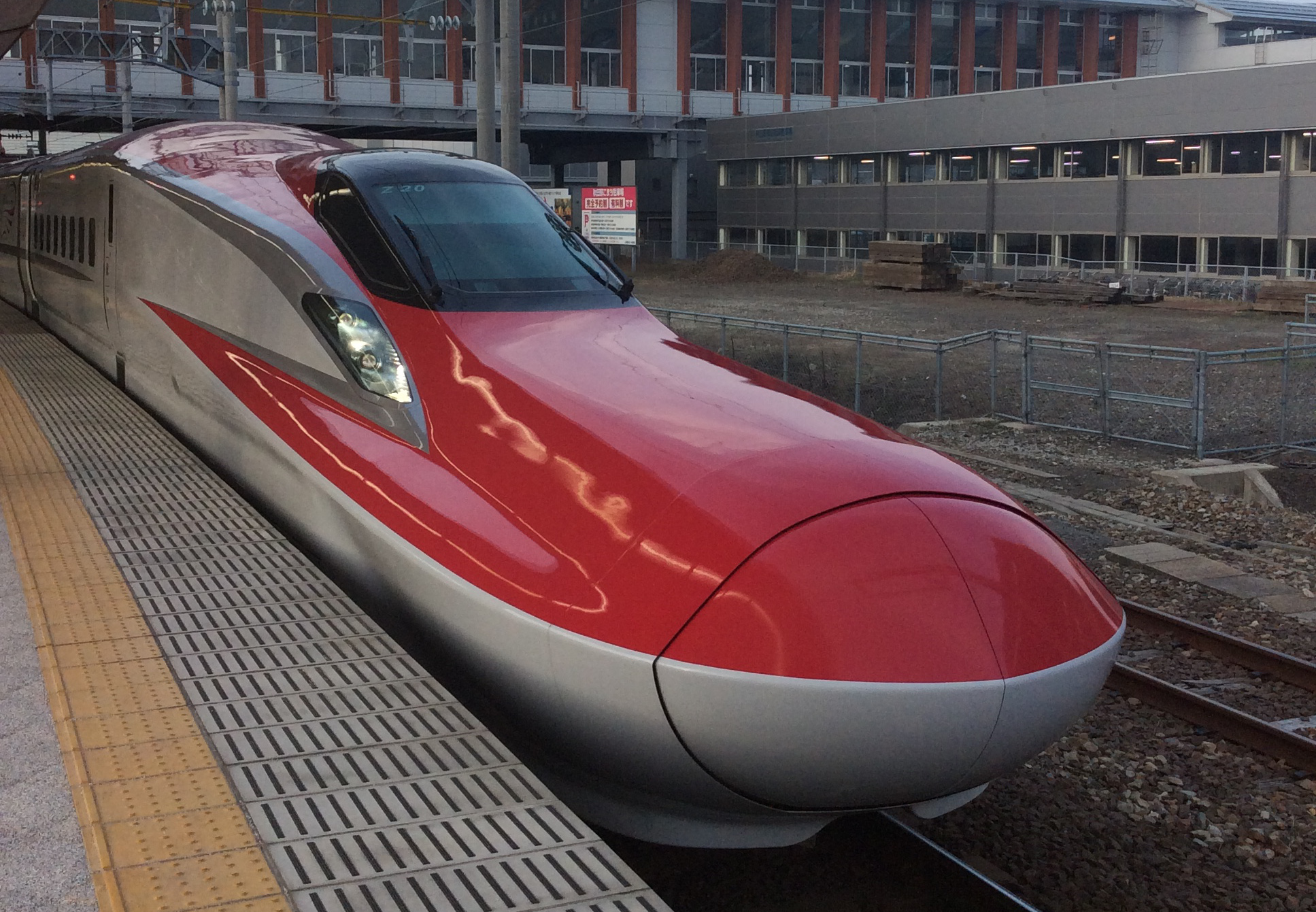 akita komachi shinkansen at akita station