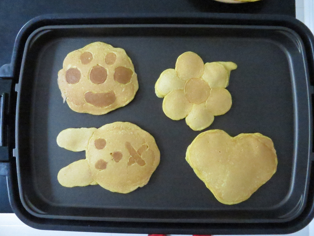 character-shaped pancakes