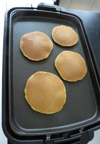 pancakes on electric hotplate