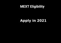 Eligibility checklist Monbukagakusho Scholarship 2022