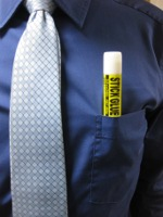glue stick in pocket